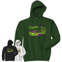 Sweat-capuche Logo Green Camo